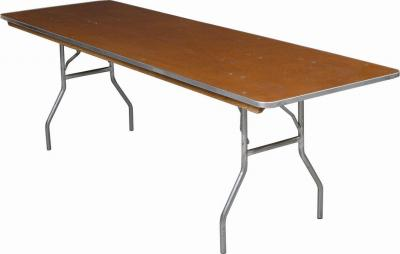 8\' Banquet Table - Wood, Folding